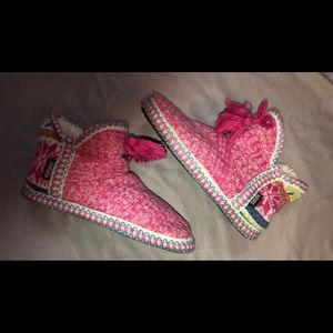 Pink MukLuk boot slippers